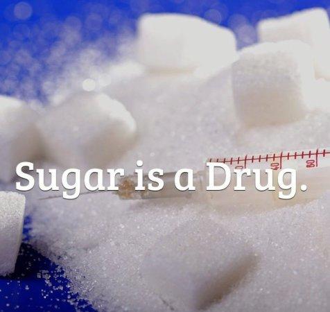 Sugar with syringe